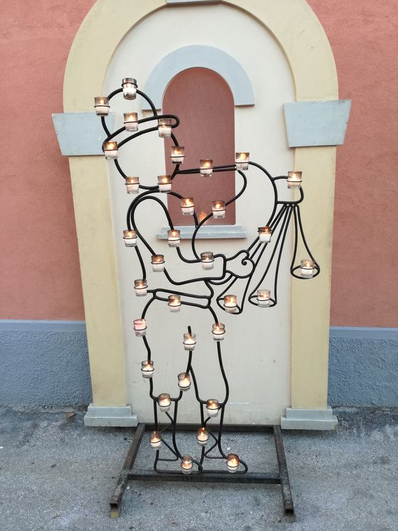 candele a candelara ferro battuto