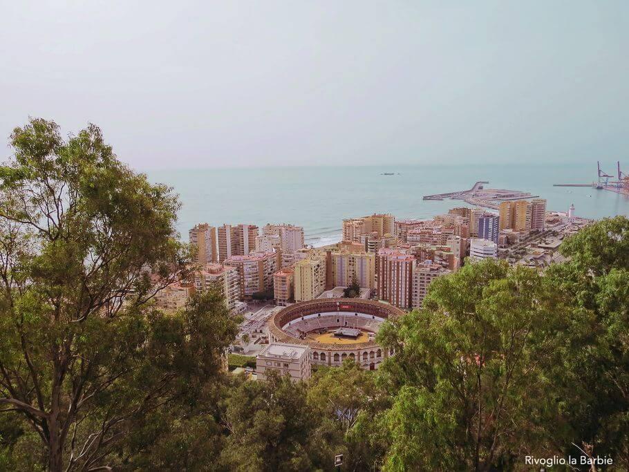 vista dal castillo de gibralfaro malaga
