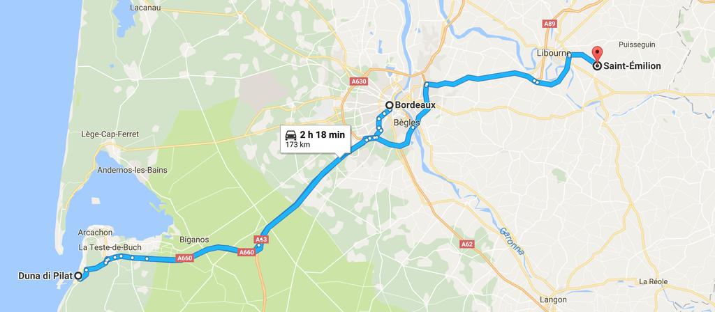 itinerario 4 giorni bordeaxu