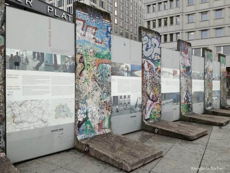 resti muro di Berlino Potsdamer Platz