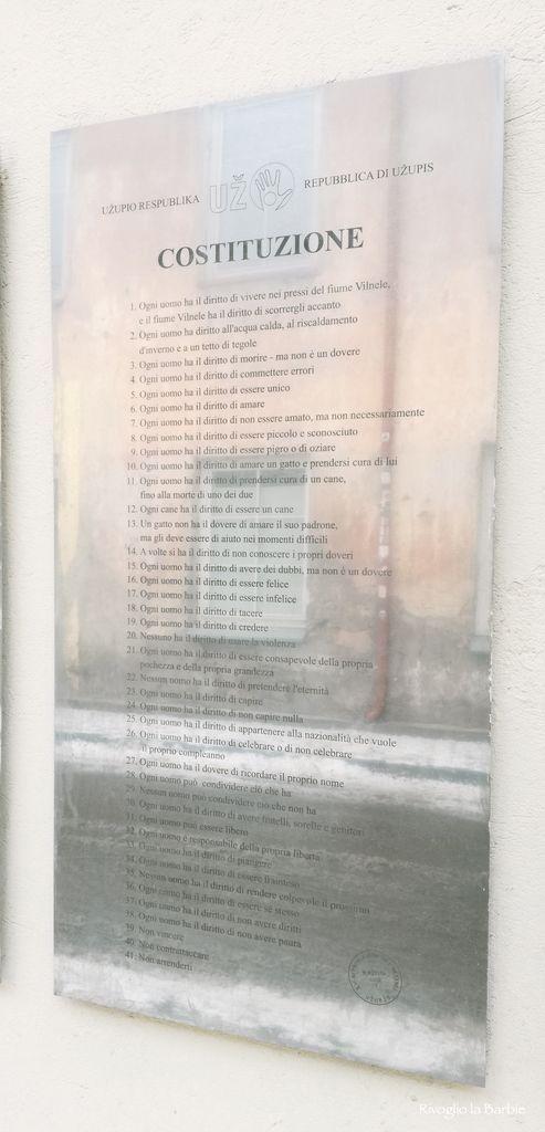 costituzione italiano uzupis
