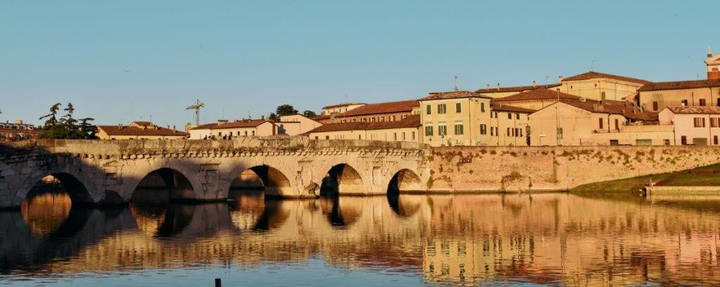 tramonto al ponte di Tiberio