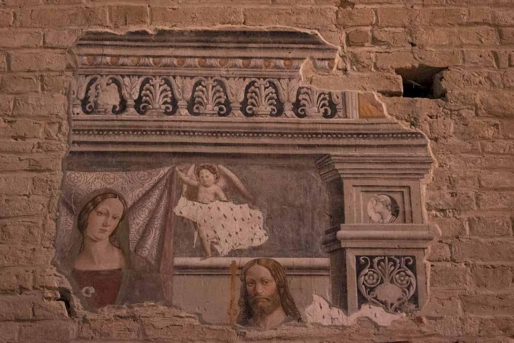affresco chiesa superiore santa maria della rocca offida